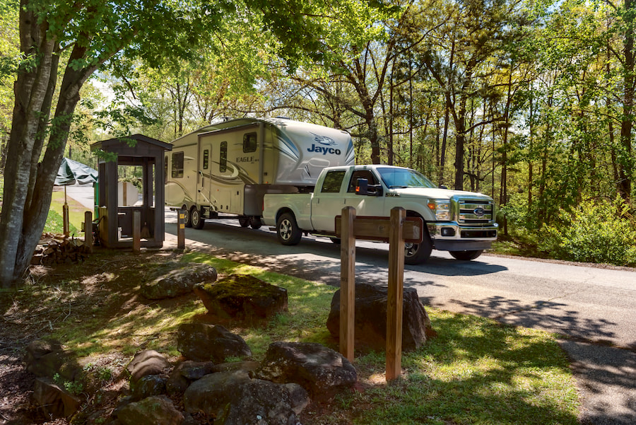 RV camping in victoria bryant state park