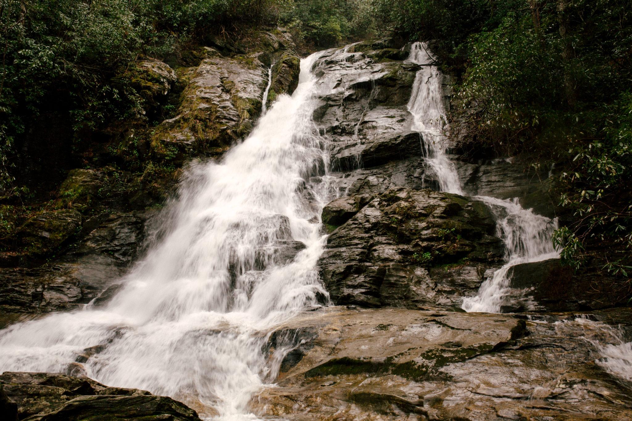 High Shoals Falls near Hiawassee, GA