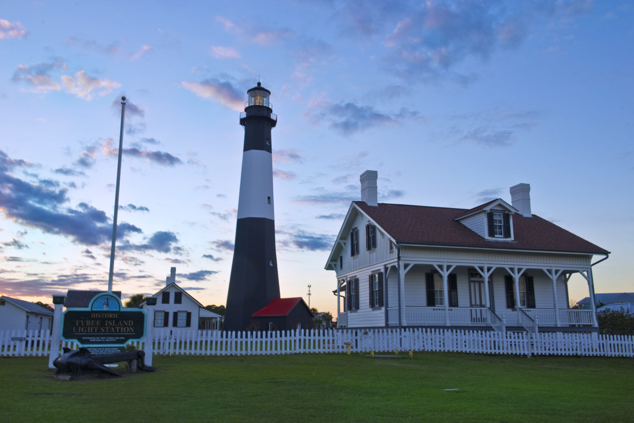 Sunset at the Tybee Island Lighthouse